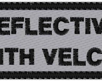 Custom Embroidered  REFLECTIVE Name  Patch WITH VELCRO
