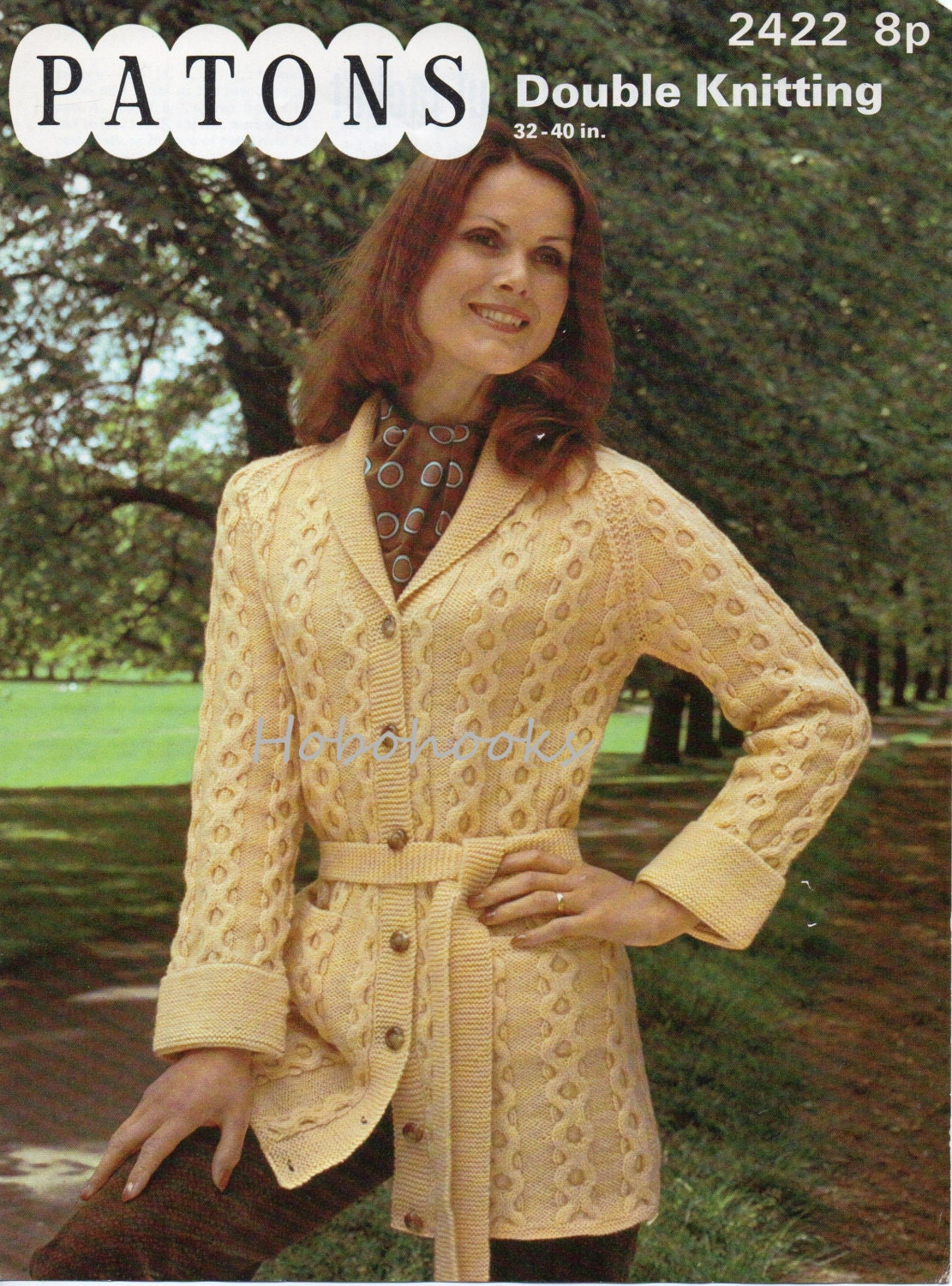 Vintage womens belted cable cardigan knitting pattern pdf zoom bankloansurffo Choice Image