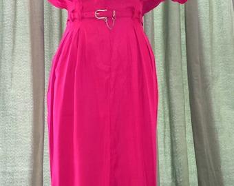 Red Jumpsuit Dress w/Belt