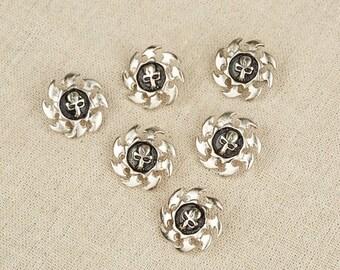 12Pcs  Skull Round Rivet / Skull Stud / Skull charms / Leather rivet / Leather Stud / Silver Tone Skull /#11