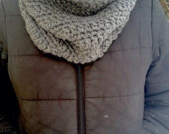 Grey Cowl, Chunky Scarf, Chunky Infinity Scarf, Gray Cowl, Grey Scarf, Gray Infinity Scarf, Grey Crochet Cowl, Grey Crochet Infinity Scarf