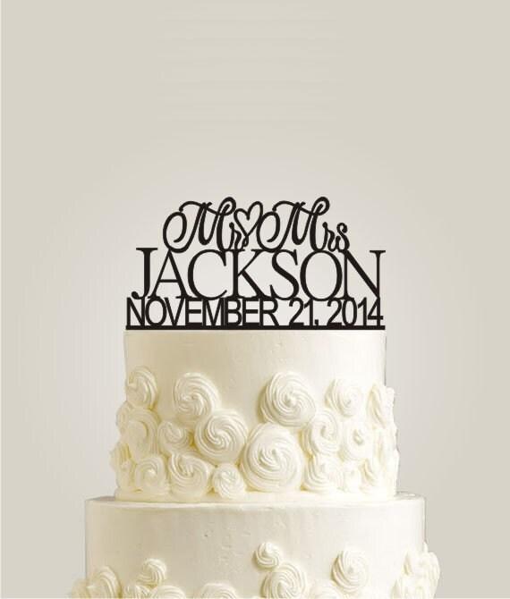 Custom Wedding Cake Topper Personalized Cake By LaserDesignShop