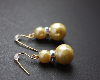 Champagne beads Earring
