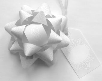 DIY Double Happiness Bows & Tags for Weddings - Instant Download, Gift Wrap, Digital Print