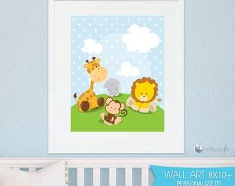 SALE Safari animals art print, printable wall art animal nursery print ,art print wall decor, kids printable wall art, home decor - WA175