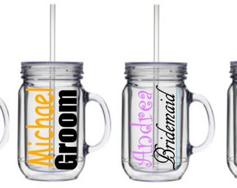 Personalized Mason Jar Tumbler