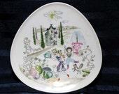 Mid Century Garden Plate by Bele Bachem/ Modern Art/ Rosenthal Germany