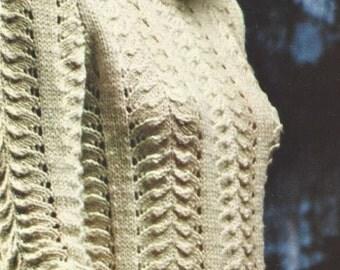 Vintage Knit Sweater PDF Pattern
