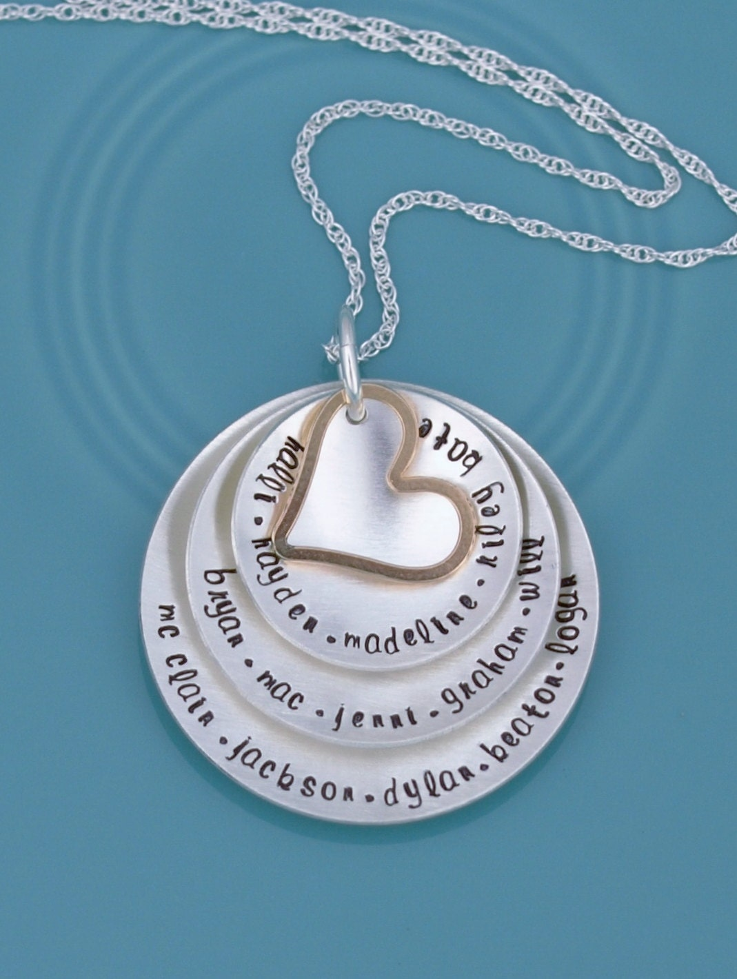 personalized grandmother necklace hand stamped grandma