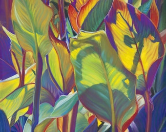Tropical decor etsy for American tropical mural