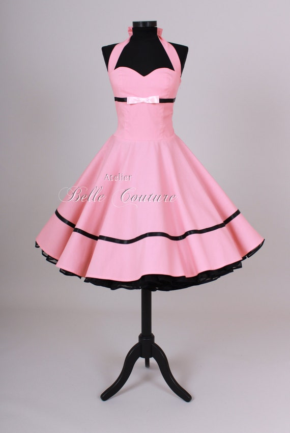 nach ma handgefertigt 50er jahre petticoat kleid. Black Bedroom Furniture Sets. Home Design Ideas