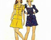 70s MOD TWO-PIECE Dress Sewing Pattern, Semi-Fitted, Hard-to-find Vintage Butterick 6039, Size 10 - Long/Short -Sleeved - Gently Used