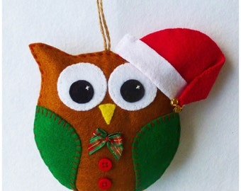 Santa Owl Ornament PDF Sewing Pattern and Tutorial, Instant  Download, Easy Step-by-Step Instructions