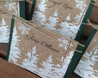 Winter trees  place card holders