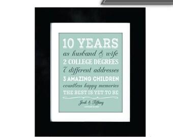 10 year anniversary gift | Etsy