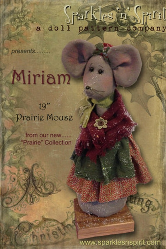 "Pattern: Miriam - 19"" Christmas Mouse"