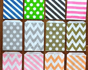 Paper Goody Bags for Parties (Mix and Match in the Color Tab!) Wedding, Parties, Showers, Gifts