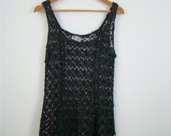 JO JO Black Crochet Dress
