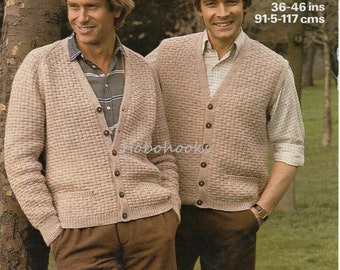 Mens Cardigan Knitting Patterns : Mens cardigan Etsy