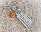 Teacher a Dictionary Art Necklace in Silver - Mentor Gift