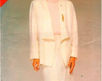 Vintage UNCUT Butterick Pattern 5459 - Misses Jacket & Skirt - 14-18