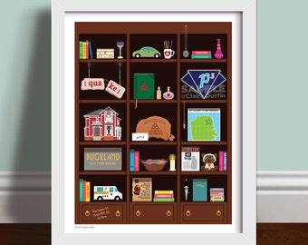 Charmed Bookcase Art Print - Charmed TV Show