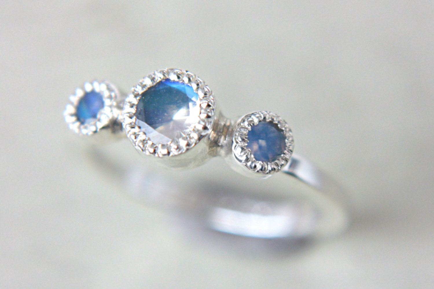 Moonstone Engagement Ring Vintage Inspired By ManariDesign On Etsy