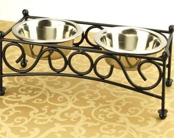 Dog Food Mat, Choose Your Size, Waterproof, Dog Placemat, No Mess Mat, Pet Food Mat, Litter Box Mat, Non Slip Mat, Splat Mat, Beige Damask