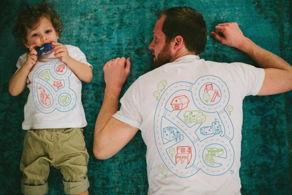 Father Son Matching Shirts. Car Play Mat Shirts. Easter Gift for Kids. Dad Gift From Kids. Gift for Dad and Son Shirts. Dad Shirt.