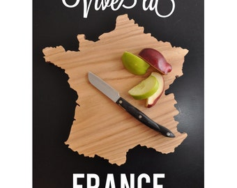 FRANCE Country Shaped Cutting Board
