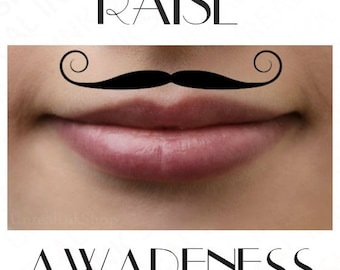 Temporary Tattoo Movember Mustache Waterproof Ultra Thin Fake Tattoos