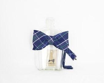 Paul - Blue/Green Plaid Men's Pre-Tied Bow Tie or Self-Tied Bow Tie