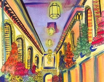 Granada Print: Alcaicería, Granada, Spain