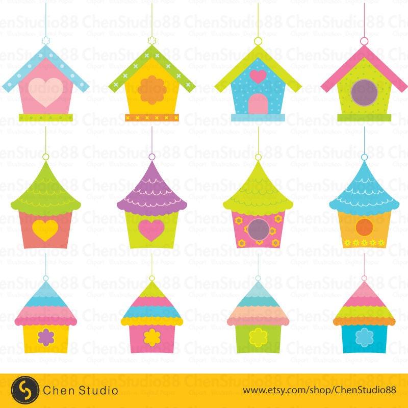 Birdhouse clip art   Etsy