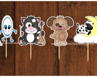 Hey Diddle Diddle Cupcake Toppers (12)