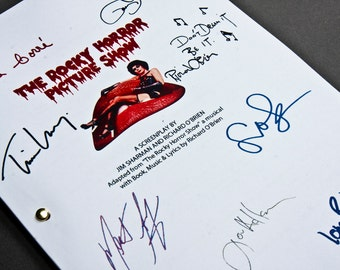 Rocky Horror Picture Show Film Movie Script with Signatures/Autographs Reprint Musical