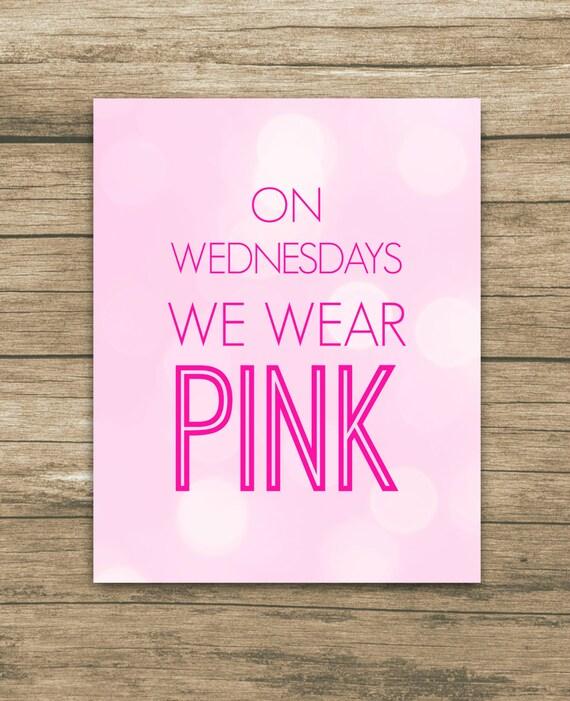 Items Similar To Pink Bokeh On Wednesdays We Wear Pink