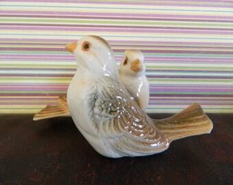 Pair Of Brown Birds Figurine