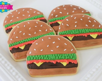 Cheeseburger Cookies - 1 Dozen