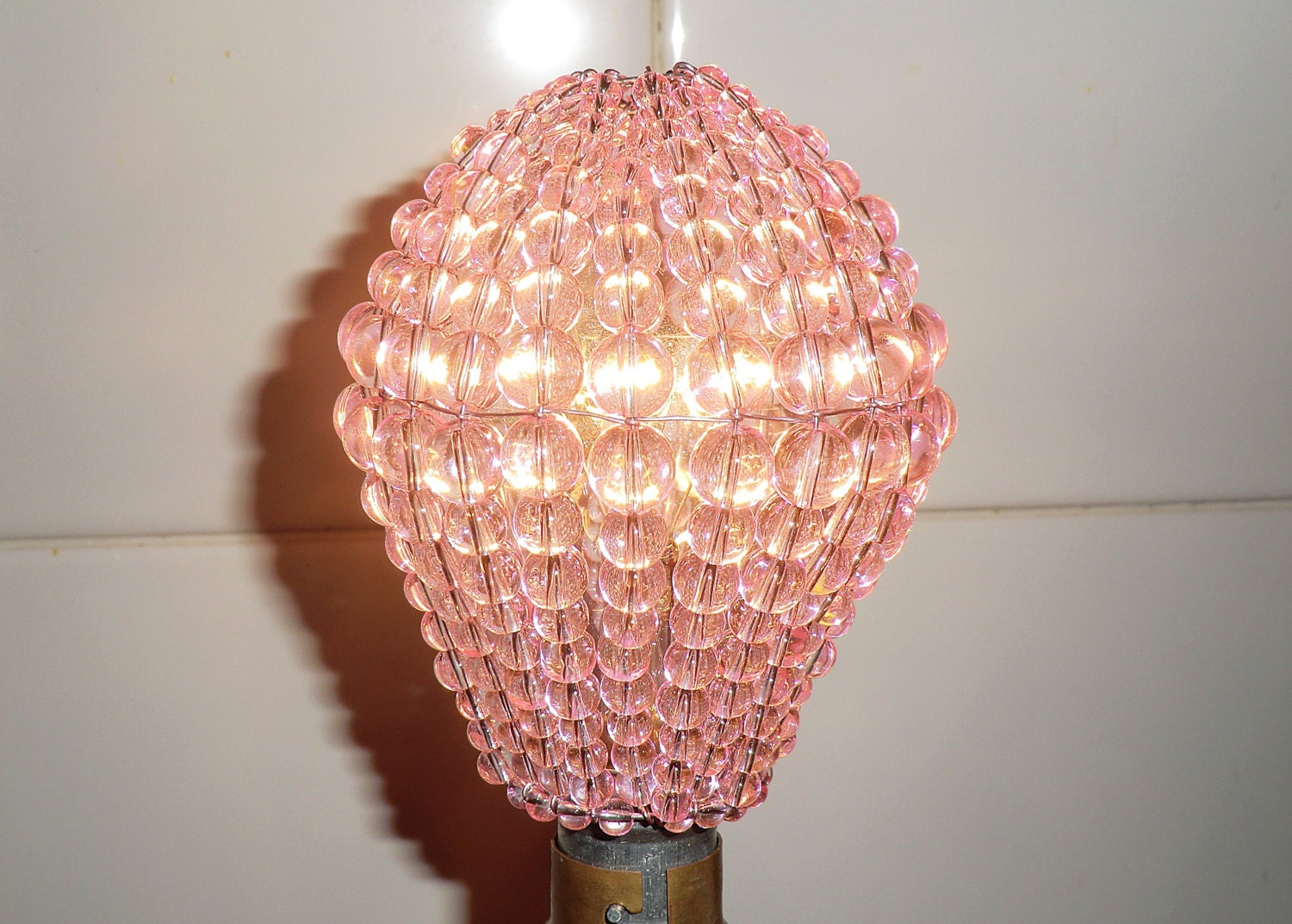 Crystal Chandelier Inspired Glass Bead Lightbulb GLS Bulb ...