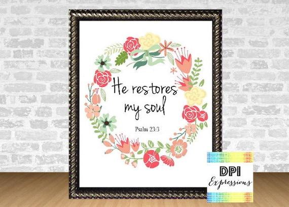 Items Similar To Bible Verse Art Print Scripture Art Psalm