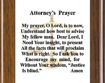 Lawyer Prayer Etsy