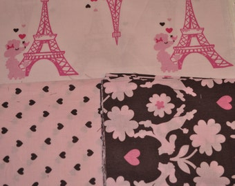 Paris Poodle Baby Blanket - cotton
