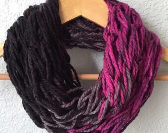 Arm Knit Scarf, Infinity Scarf