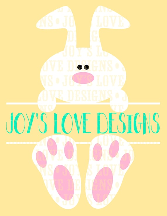 Items Similar To Split Easter Bunny Svg And Dxf Digital