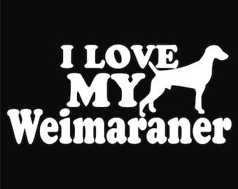 56 I Love My Weimaraner T-shirt