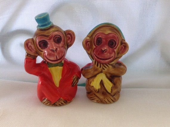 Funky Monkey Salt And Pepper Shakers By Shakerstropsandmoore
