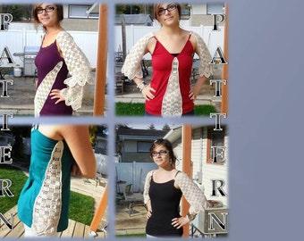 Crocheted Tank Top Add-Ons. Crochet Pattern, Tank Top Embellishments