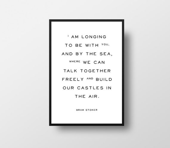 Quotes About Castles Classy Bram Stoker Dracula Typographic Art Quote Art Etsy Uk