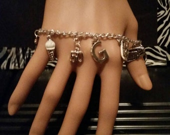 50 Fifty Shades of Grey * Inspired * Charm Bracelet